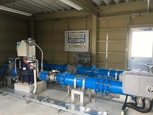 砺波市上中野配水場マイクロ水力発電システム