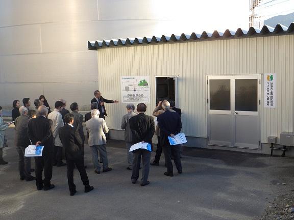 砺波市上中野配水場マイクロ水力発電見学会