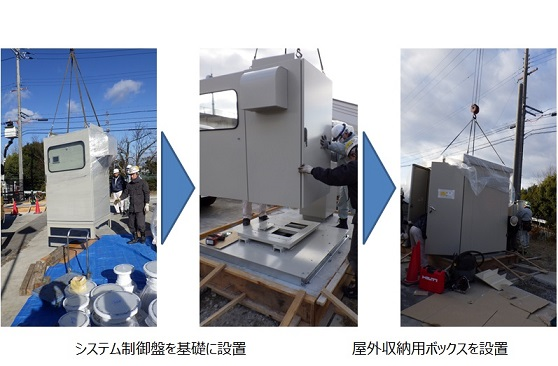 神戸市藤原配水場 マイクロ水力発電工事 制御盤