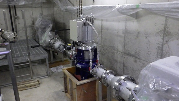 神戸市藤原配水場 マイクロ水力発電機