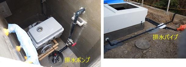 長岡京市北ポンプ場 マイクロ水力発電工事 地下ピット排水