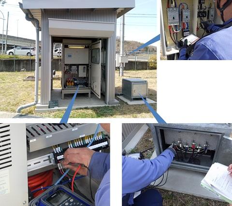 神戸市 福谷中層配水池 マイクロ水力発電 定期点検