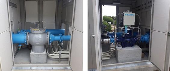 熱海市宮川浄水場 発電機とストレーナー