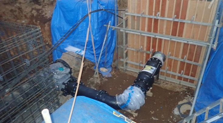 中台浄水場マイクロ水力発電所 バイパス分岐