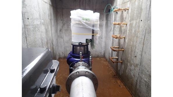 中台浄水場マイクロ水力発電所機器設置完了