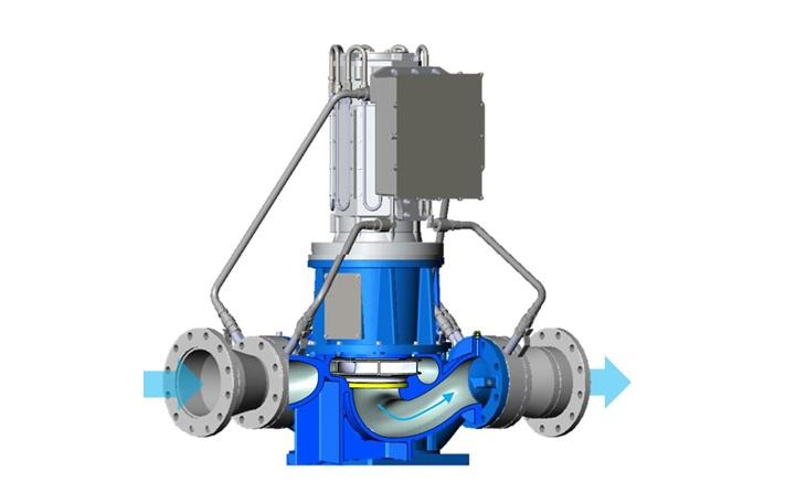 水力発電機カット図