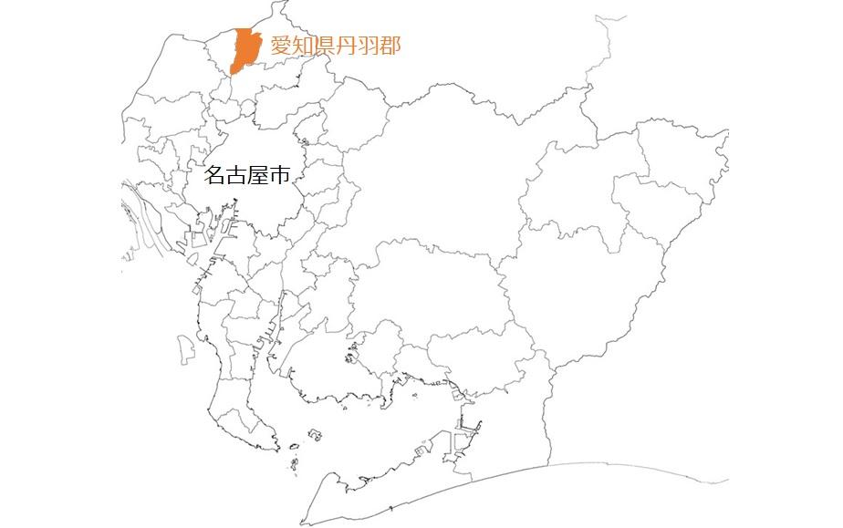 丹羽郡の位置