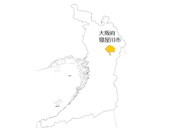 寝屋川市の位置