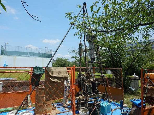 水走配水場マイクロ水力発電所 地盤調査