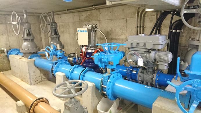 須玉第二減圧槽マイクロ水力発電機