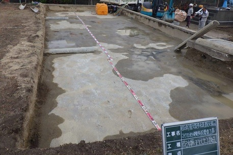 東大阪市水走配水場マイクロ水力発電所の工事