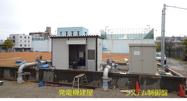水走配水場マイクロ水力発電所 発電機建屋