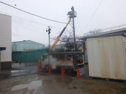 水走配水場マイクロ水力発電所系統連系工事