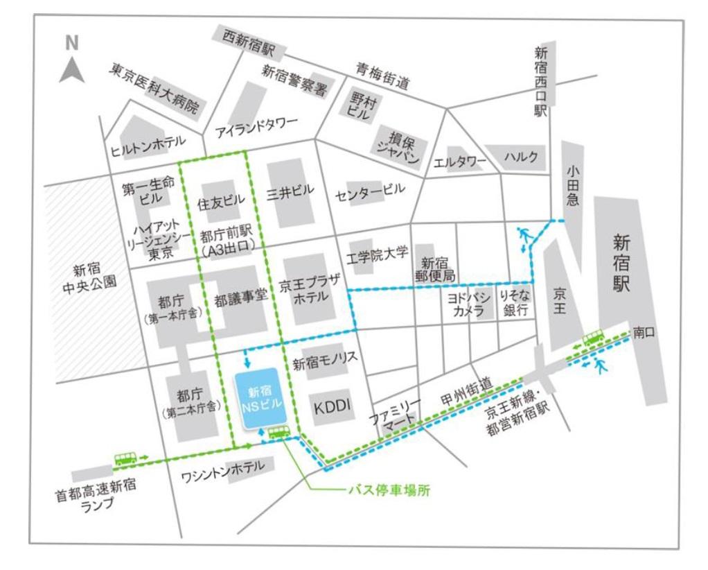 fuha東京への地図