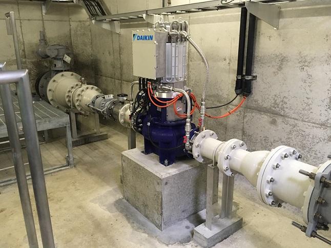 神戸市藤原配水場マイクロ水力発電