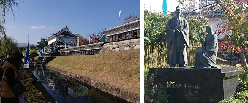 勝竜寺城とガラシャ像