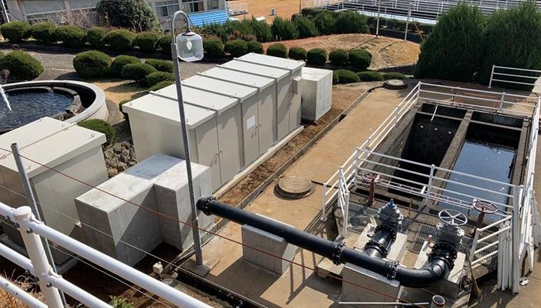 宮川浄水場マイクロ水力発電システム
