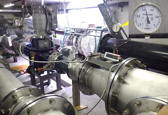 圧力試験@淡路調整池マイクロ水力発電所