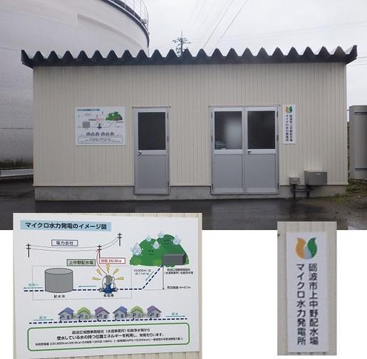 砺波市上中野配水場マイクロ水力発電所
