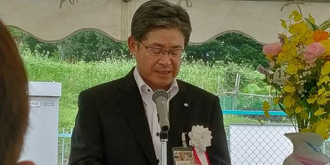 静岡市企業管理者様からのご挨拶のようす