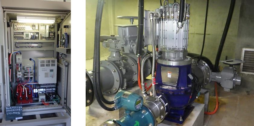 福野調整槽マイクロ水力発電所のようす