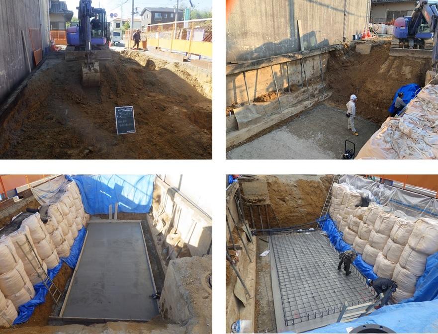 上原減圧槽マイクロ水力発電所の工事(2)