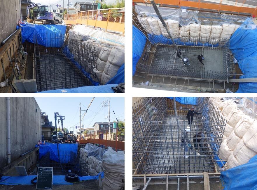 上原減圧槽マイクロ水力発電所の工事(3)