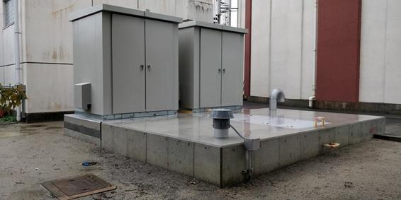 佐井寺配水場マイクロ水力発電所外観