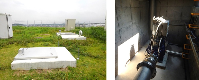木更津市中台浄水場マイクロ水力発電所のようす