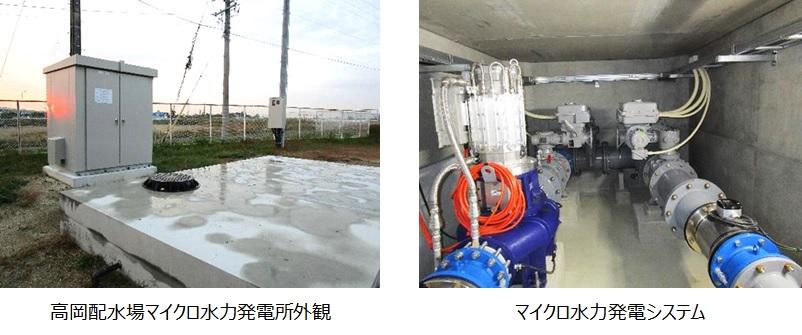 高岡配水場マイクロ水力発電所のようす
