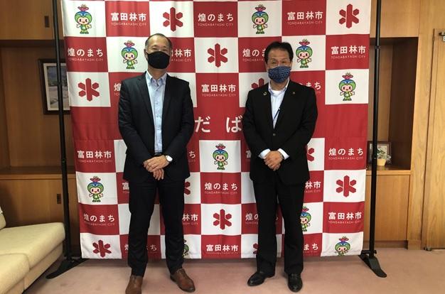富田林市長様への表敬訪問