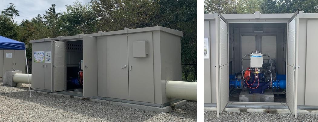 浅麓水道企業団追分調整池マイクロ水力発電所