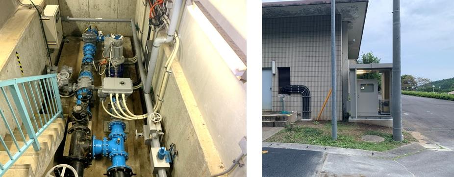 寺山浄水場マイクロ水力発電所のようす