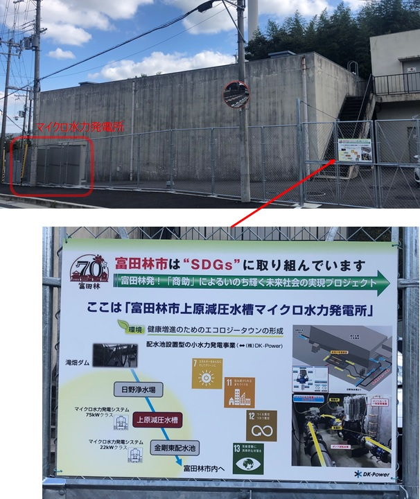 「富田林市はSDGsに取り組んでいます」の看板