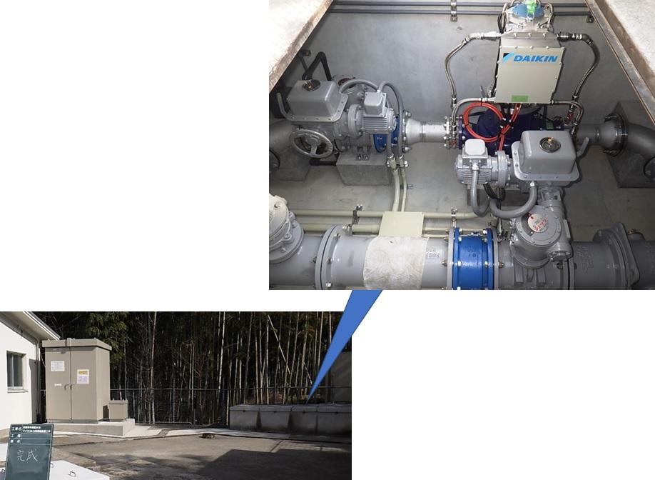 長岡京市東配水池マイクロ水力発電所