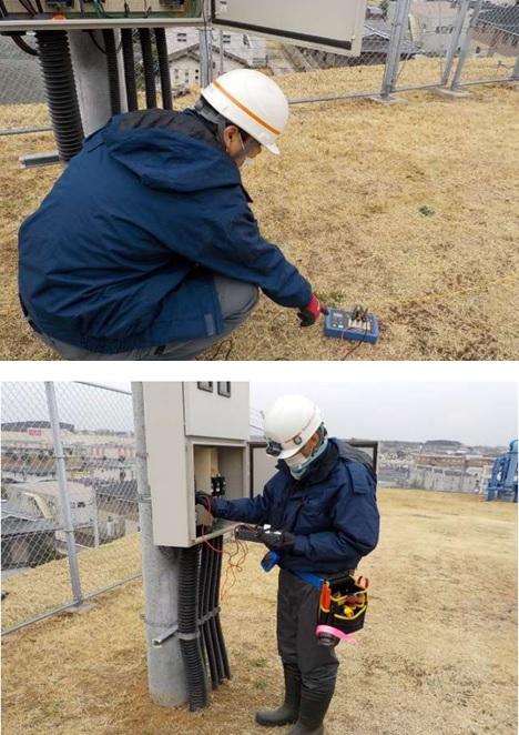 かずさ広域中台マイクロ水力発電所 接地抵抗・絶縁抵抗測定