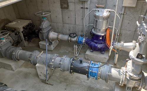 香芝市今泉配水場マイクロ水力発電所の発電システム