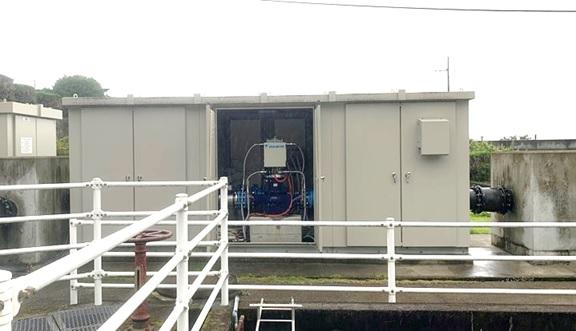 熱海市宮川浄水場マイクロ水力発電所のようす(2)