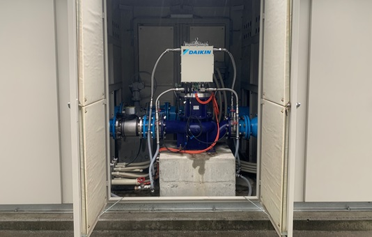 熱海市宮川浄水場マイクロ水力発電所の発電機