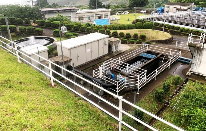 熱海市宮川浄水場マイクロ水力発電所のようす