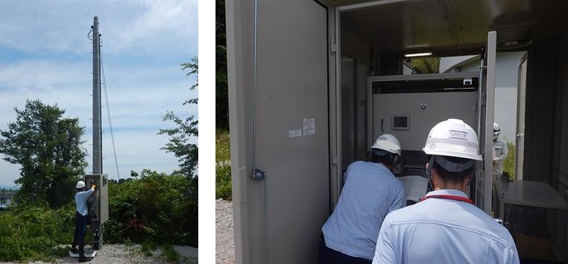 上田子配水池マイクロ水力発電所での電力会社立会
