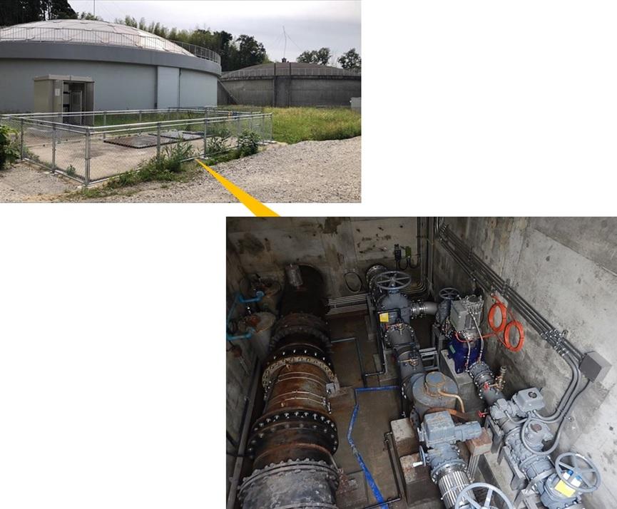 上田子配水池マイクロ水力発電所の工事が完了