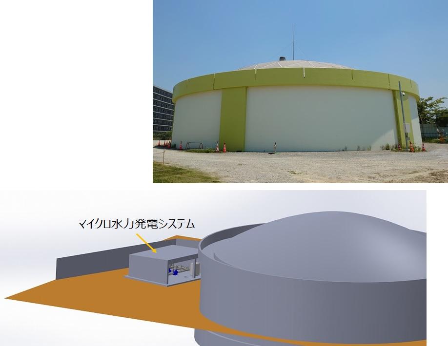 東海ポンプ場マイクロ水力発電所のイメージ