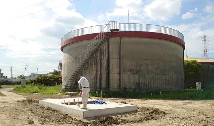 一ツ木配水場マイクロ水力発電所の地下ピット