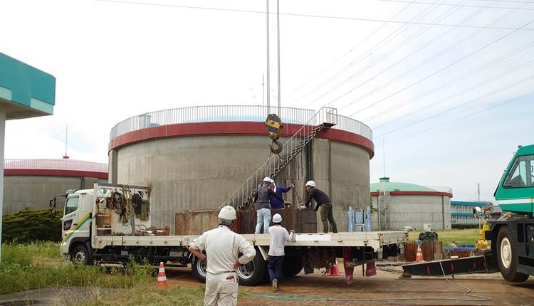 一ツ木配水場マイクロ水力発電所は工事を開始