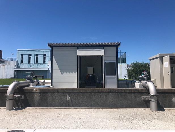 東大阪市水走配水場マイクロ水力発電所