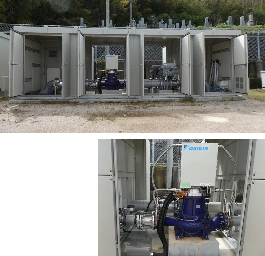 滋賀県長福寺分水点マイクロ水力発電所のようす