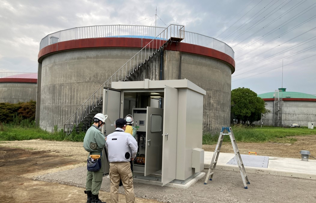一ツ木配水場マイクロ水力発電所の外観2